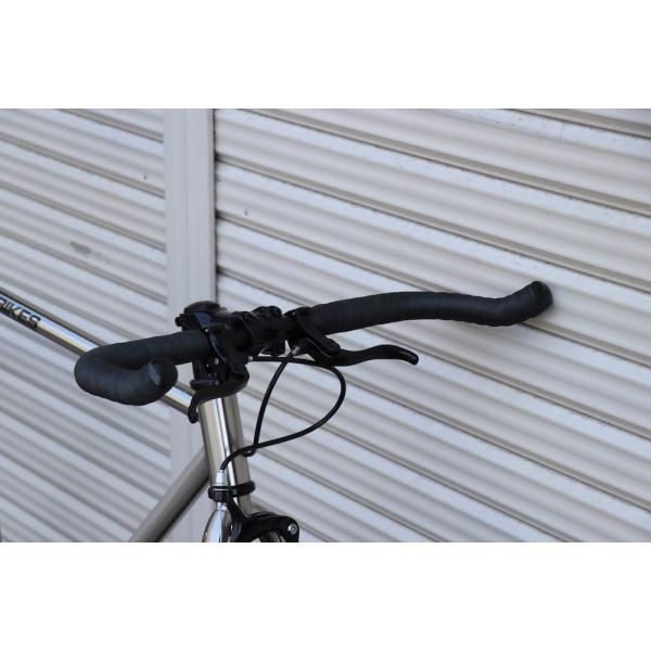 ピストバイク 完成車 CARTEL BIKES AVENUE LO CHROME PISTBIKE カーテルバイク アベニュー クローム 銀 シルバー 自転車 ロードバイク ブランド|favus|08