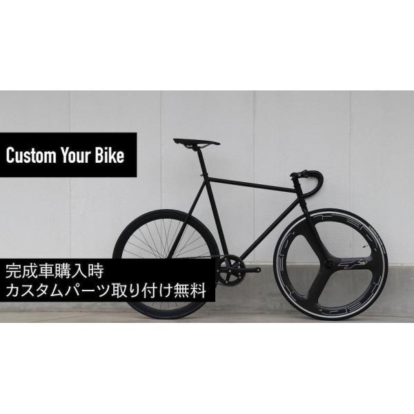 LEADER BIKES リーダーバイクス 721 MAT BLACK ピストバイク 完成車 アルミ フレーム カーボン 軽量 自転車 マットブラック 人気|favus|05