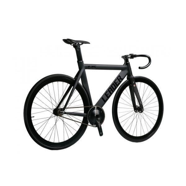 ピストバイク 完成車 LEADER BIKES リーダーバイク 735TR MAT BLACK ストリート シングル エアロフレーム カーボン アルミ 軽量 おしゃれ おすすめ カスタム|favus|02