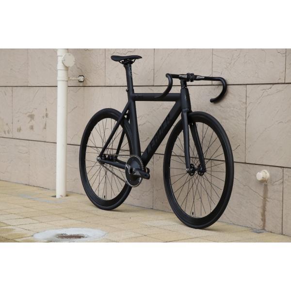 ピストバイク 完成車 LEADER BIKES リーダーバイク 735TR MAT BLACK ストリート シングル エアロフレーム カーボン アルミ 軽量 おしゃれ おすすめ カスタム|favus|05