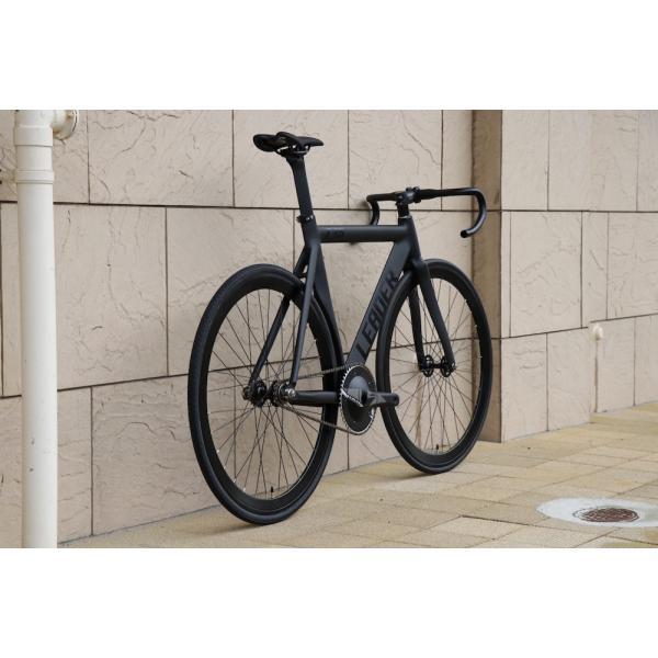 ピストバイク 完成車 LEADER BIKES リーダーバイク 735TR MAT BLACK ストリート シングル エアロフレーム カーボン アルミ 軽量 おしゃれ おすすめ カスタム|favus|06