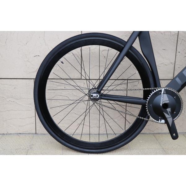 ピストバイク 完成車 LEADER BIKES リーダーバイク 735TR MAT BLACK ストリート シングル エアロフレーム カーボン アルミ 軽量 おしゃれ おすすめ カスタム|favus|08