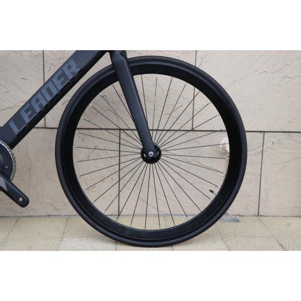 ピストバイク 完成車 LEADER BIKES リーダーバイク 735TR MAT BLACK ストリート シングル エアロフレーム カーボン アルミ 軽量 おしゃれ おすすめ カスタム|favus|09