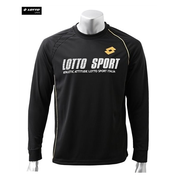 ロット(LOTTO) 長袖Tシャツ 大きいサイズ メンズ M-8L ラグラン切替えロゴプリントTシャツ スポーツウエア ワンマイルウエア|faz-store