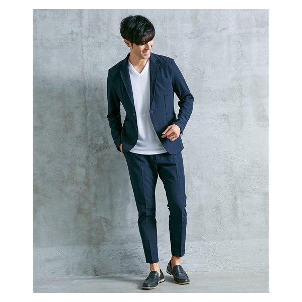 セットアップスーツ メンズ M-4L ストレッチ素材セットアップスーツ(ジャケット+パンツ) 大きいサイズ メンズ 上下セットでお買い得 送料無料|faz-store|13