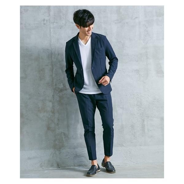 セットアップスーツ メンズ M-4L ストレッチ素材セットアップスーツ(ジャケット+パンツ) 大きいサイズ メンズ 上下セットでお買い得 送料無料|faz-store|09