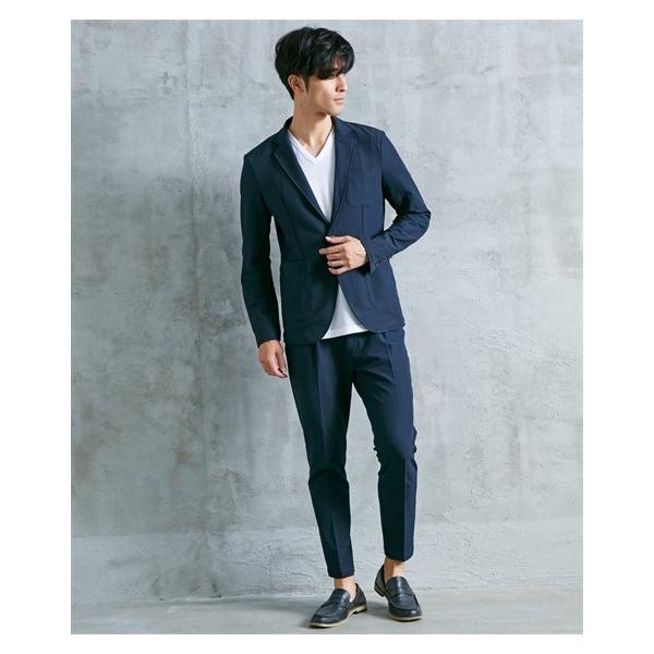 セットアップスーツ メンズ M-4L ストレッチ素材セットアップスーツ(ジャケット+パンツ) 大きいサイズ メンズ 上下セットでお買い得 送料無料|faz-store|10