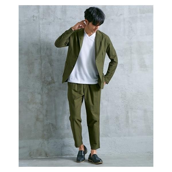セットアップ スーツ メンズ M-LL 微起毛素材カジュアルセットアップスーツ(ジャケット+ツータックパンツ) 上下セットでお買い得! ニッセン faz-store