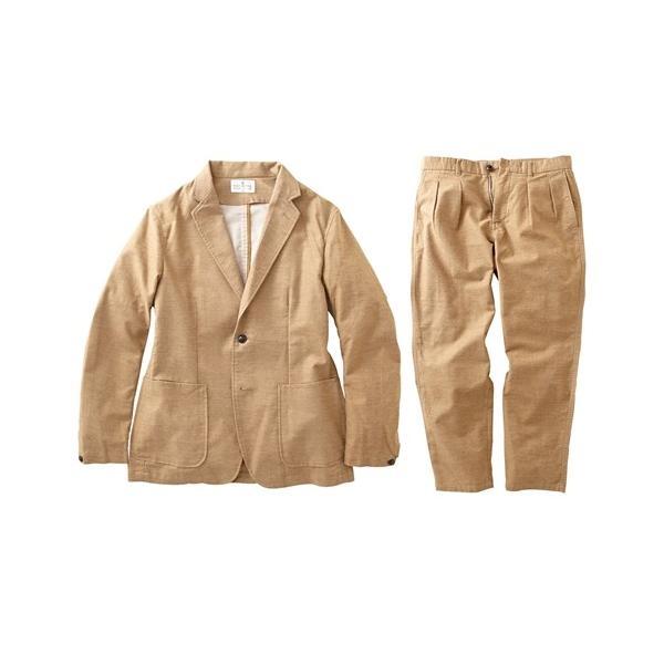 セットアップ スーツ メンズ M-LL 微起毛素材カジュアルセットアップスーツ(ジャケット+ツータックパンツ) 上下セットでお買い得! ニッセン faz-store 02