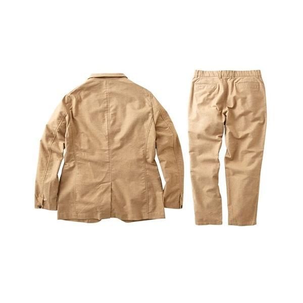 セットアップ スーツ メンズ M-LL 微起毛素材カジュアルセットアップスーツ(ジャケット+ツータックパンツ) 上下セットでお買い得! ニッセン faz-store 03