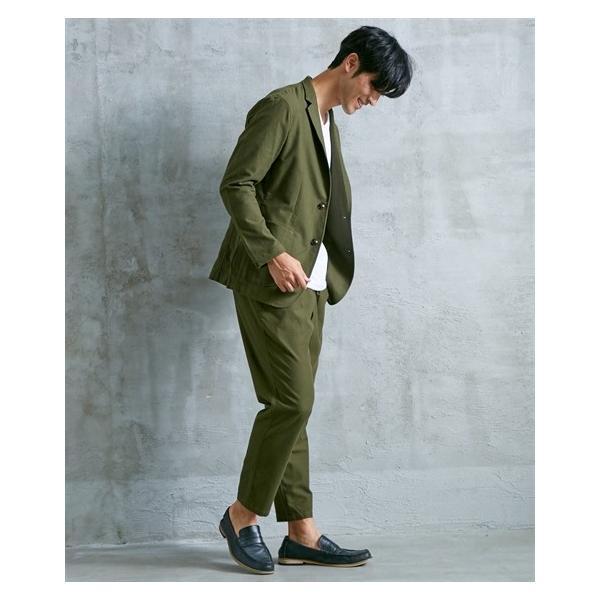 セットアップ スーツ メンズ M-LL 微起毛素材カジュアルセットアップスーツ(ジャケット+ツータックパンツ) 上下セットでお買い得! ニッセン faz-store 07