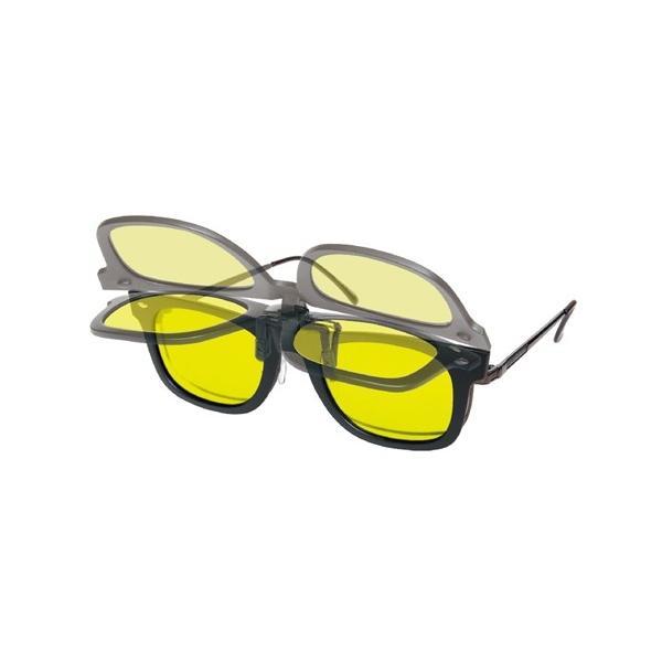 サングラス メンズ ドライビング専用グラス クリップタイプ 雨の夜やヘッドライトの眩しさを軽減! ブラック ニッセン nissen