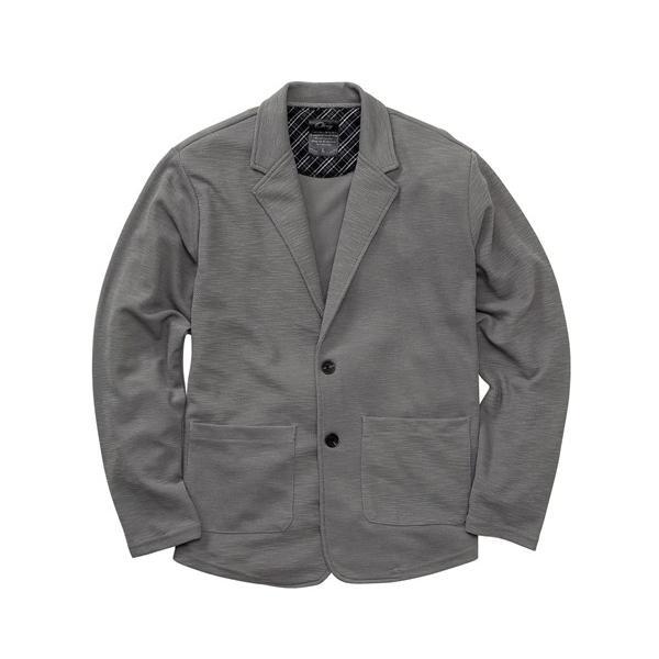 テーラードジャケット メンズ M-6L 吸汗速乾カットソーテーラードジャケット ソフトで伸びるため着心地らくらく! 大きいサイズ メンズ アウター
