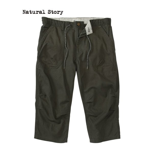 ナチュラルストーリー(Natural Story) 綿麻ベイカークロップドパンツ メンズ M/L/LL 綿麻素材で夏にぴったりのサラッとした風合い!
