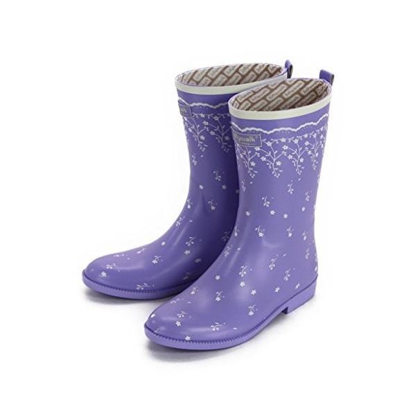 """ジョリーウォーク レディース レインブーツ オシャレかわいい レインシューズ 長靴 JW206""""Lavender purple(ラベンダー"""