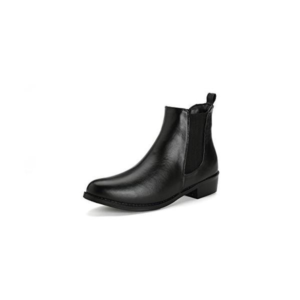 """エニーウォーク 完全防水 革靴に見える 革ブーツにみえる サイドゴアレインブーツ タウンレインブーツ""""ブラック Lサイズ(23.5?24."""