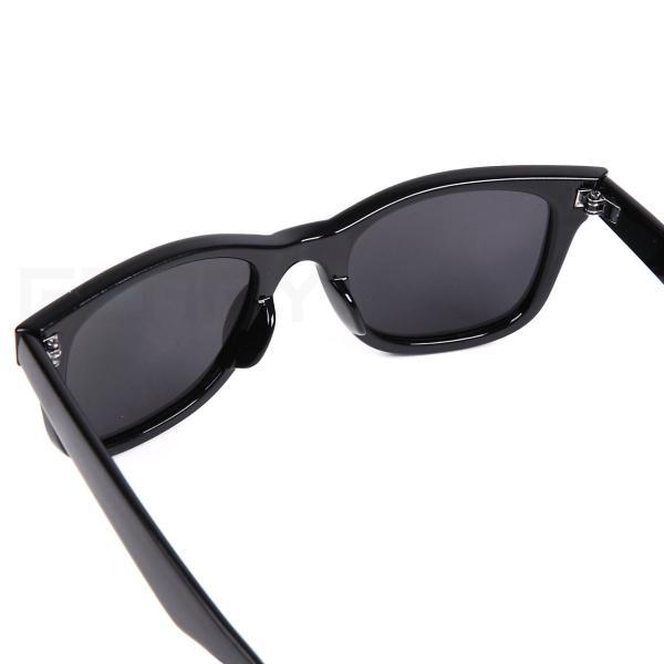 (フェリー) FERRY 偏光レンズ ウェリントン サングラス ポーチ&クロス セット ユニセックス ブラック fchallenge 09