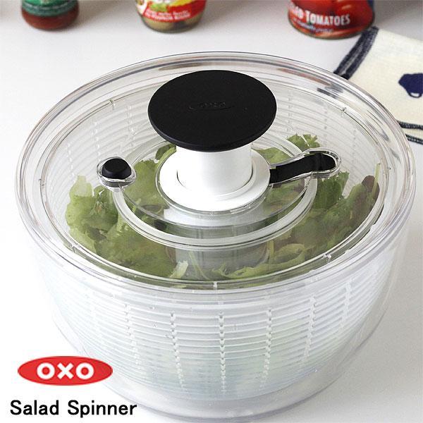 OXOクリアサラダスピナー大(オクソー 野菜用水切り)