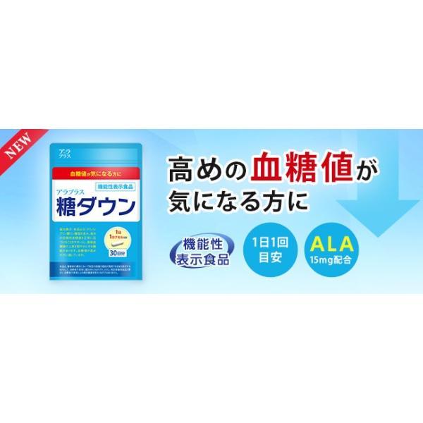 【送料無料】【即納】 アラプラス 糖ダウン 30カプセル 【お得な2箱セット・3箱セットもございます】【健康食品】【機能性表示食品】|fdc|02