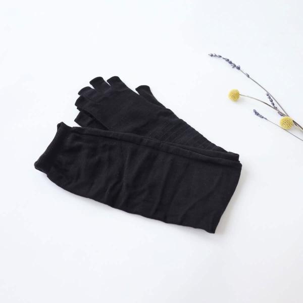 内側シルク指切りアームカバー ロング丈 (4380) レディース 女性 メンズ 男性 おしゃれ おすすめ アームカバー 天然素材 シルク 日本製 UV|fdsdaigo|02