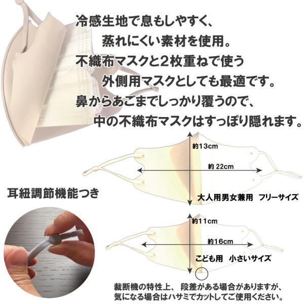 夏用 冷感マスク 接触冷感 洗って使える 5枚入り マスクケース入り 送料無料|featherstoa|05