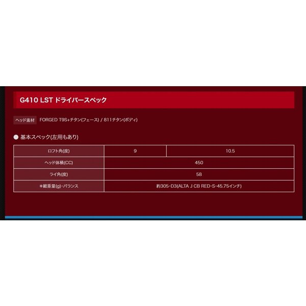 PING(ピン) G410 LST ドライバー TENSEI CK PRO ORANGE テンセイ 60 70 カスタム|feaz|06