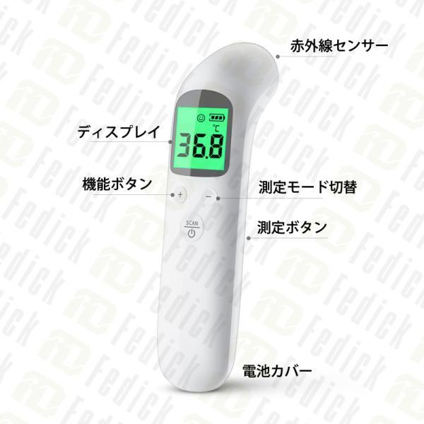 10時まで注文即日発送 500点限定価格 日本語説明書同梱 会社/学校から大量注文受付中! 温度計 非接触型 非接触電子温度計 温度計 室温  電子温度計 fedick 10