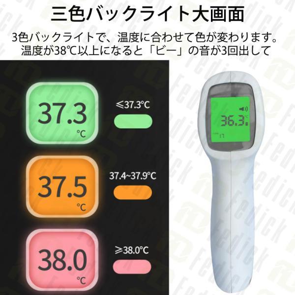 [ご好評につき再入荷x総合ランキング入賞]日本語説明書同梱 体温計 非接触型 非接触電子体温計 温度計 額体温計 おでこ温度計  在庫あり fedick 04