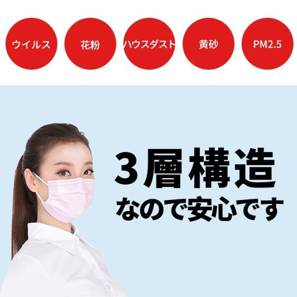 【在庫あり 即納〜一週間までに配送】3層構造 マスク ホワイト 使い捨て 30・50枚入り PM2.5対応 不織布 超快適 花粉症対策 風邪予防 BEF99.9% 抗菌 大人用 fedick 02