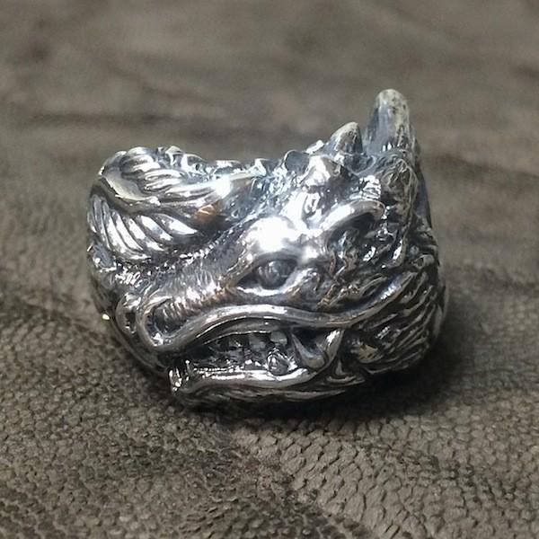 龍デザインのリング  ドラゴンリング シルバー925 指環  vastmasdesign バストマスデザイン|feeding