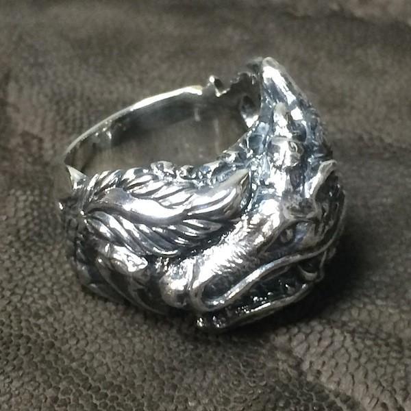 龍デザインのリング  ドラゴンリング シルバー925 指環  vastmasdesign バストマスデザイン|feeding|02