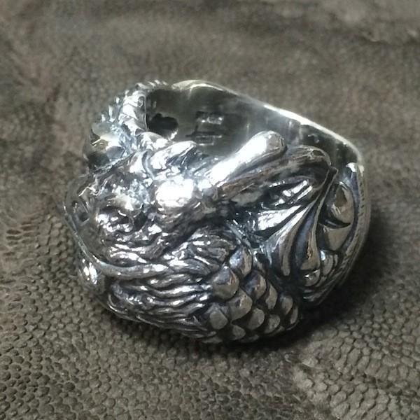 龍デザインのリング  ドラゴンリング シルバー925 指環  vastmasdesign バストマスデザイン|feeding|03