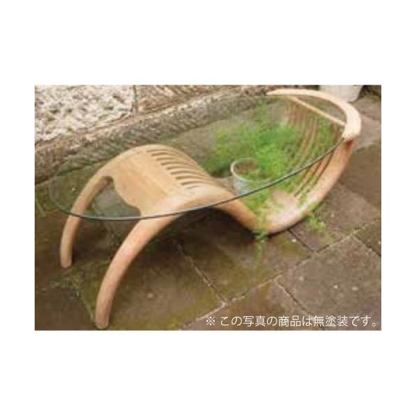 チークガラステーブル(塗装) 36324(室内用)ジャービス商事[F-748]【ガーデンチェア】