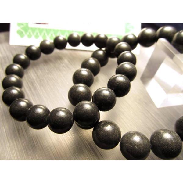 H&E社直入 ブラック・アゼツライトブレスレットアゾゼオ 10-10.5mm×20珠前後