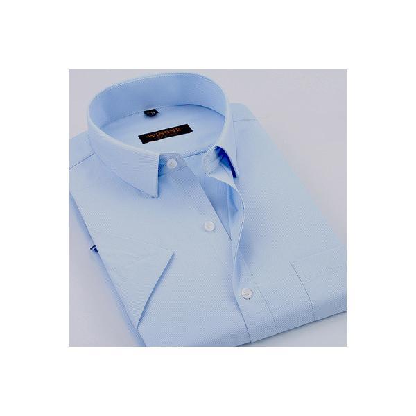 d054316af77f9 ワイシャツ メンズ ビジネスシャツ Yシャツ 半袖 半袖ワイシャツ ビジネス カラーシャツ お葬式 礼服 結婚 ...
