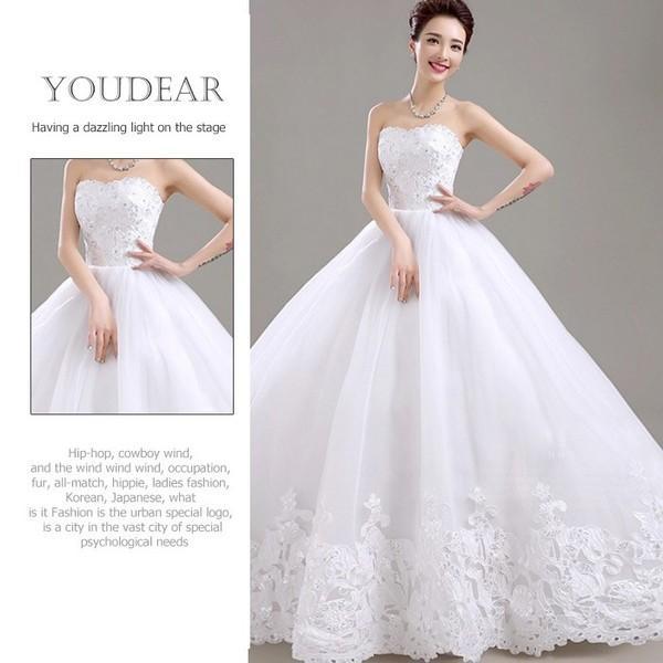 629054e80e82d ウェディングドレス 二次会 ウエディングドレス ロングドレス ベアトップ ...