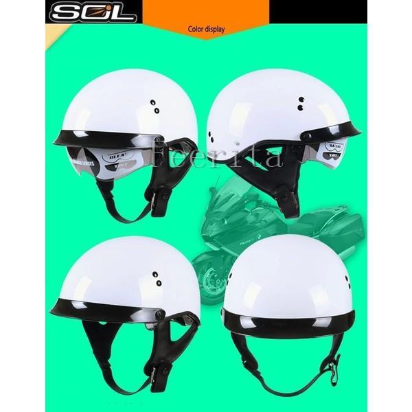 ハーフヘルメット バイクヘルメット 半帽 オープンフェイス  ジェットヘルメット バイク ヘルメット ジェット 安全規格 半帽 メンズ レディース|feerita|04