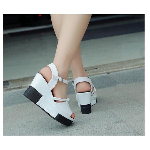 サンダル厚底レディースウェッジサンダルヒールフラットサンダル痛くない歩きやすい美脚疲れない春夏厚底サンダルレースシューズ大きいサイズ靴