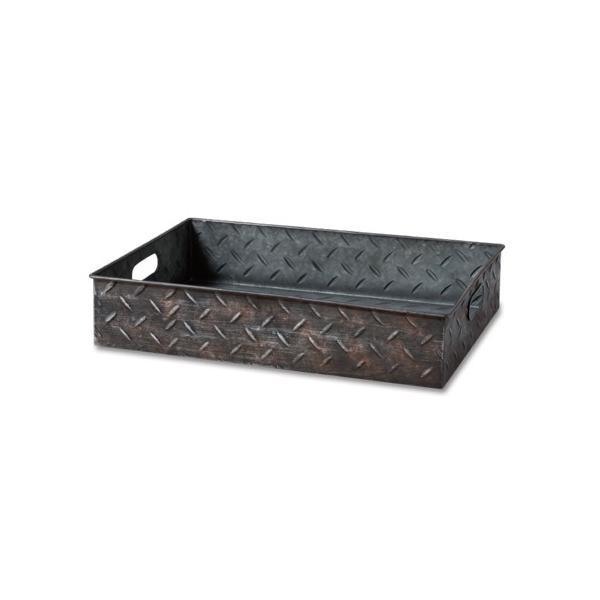 RoomClip商品情報 - プランターBOX インダストリアル  ブリキ  チェッカープレート  縞鋼板