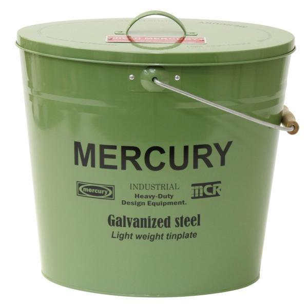 RoomClip商品情報 - Mercury マーキュリー ブリキバケツ オーバルフタツキ カーキ ブリキバケツ