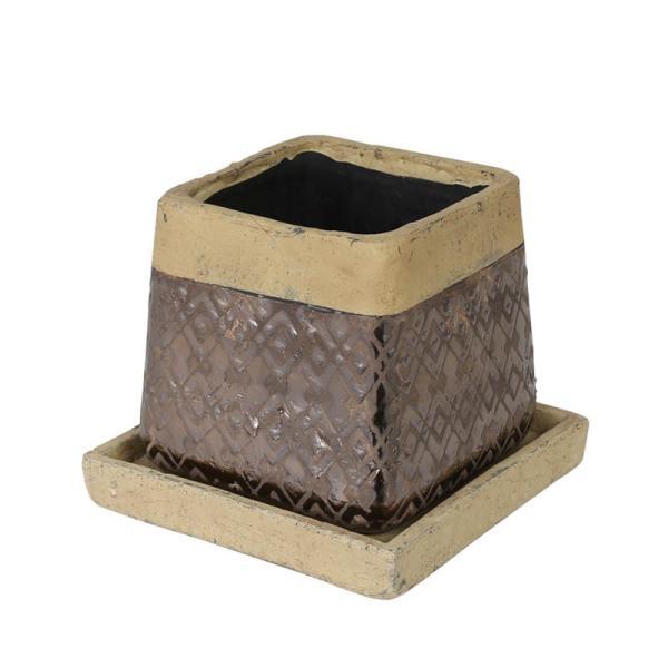 RoomClip商品情報 - METAL GLAZED POT SQUARE Lメタルグレイズドポット スクエアL DULTON ダルトン 鉢 鉢カバー