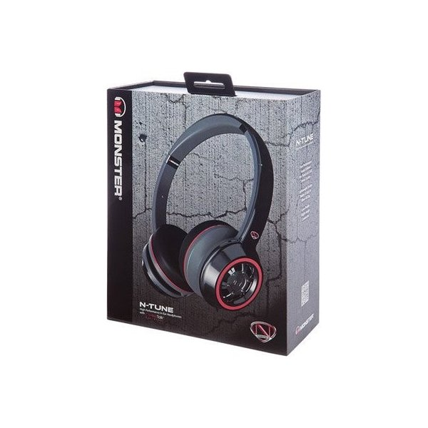 Monster モンスター NCredible NTune On Ear Headphones Black (NC MH NTU ON CTU)インクレディブル チューン ヘッドフォン ヘッド