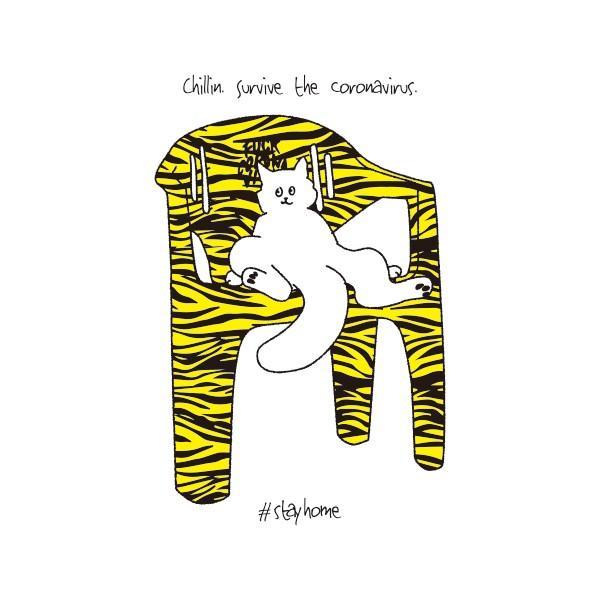 chill out Tシャツ 新型コロナ撲滅Tシャツ 白|fellows7|03