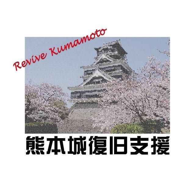 熊本城 復旧支援 Tシャツ 熊本地震 震災 チャリティ Tシャツ 白|fellows7|03