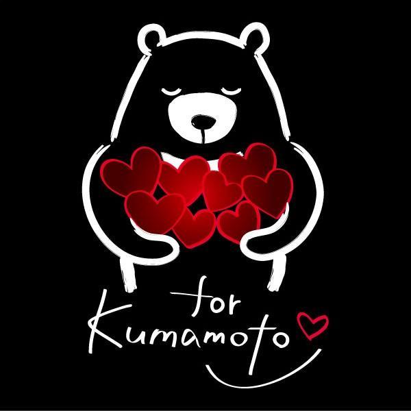 LOVE for Kumamoto Tシャツ 熊本地震 震災 チャリティ クマ Tシャツ 黒|fellows7|03