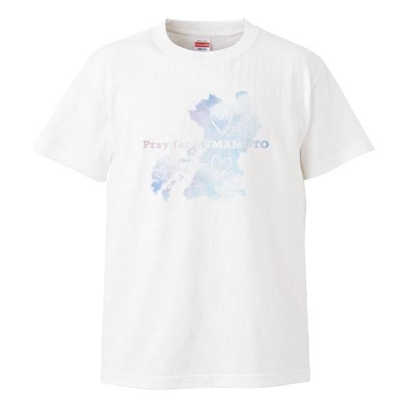 pray for KUMAMOTO Tシャツ 熊本地震 震災 チャリティ Tシャツ 白|fellows7