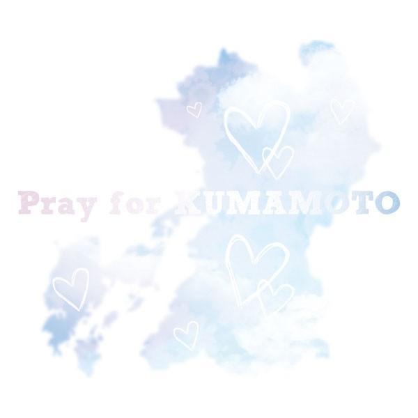 pray for KUMAMOTO Tシャツ 熊本地震 震災 チャリティ Tシャツ 白|fellows7|03