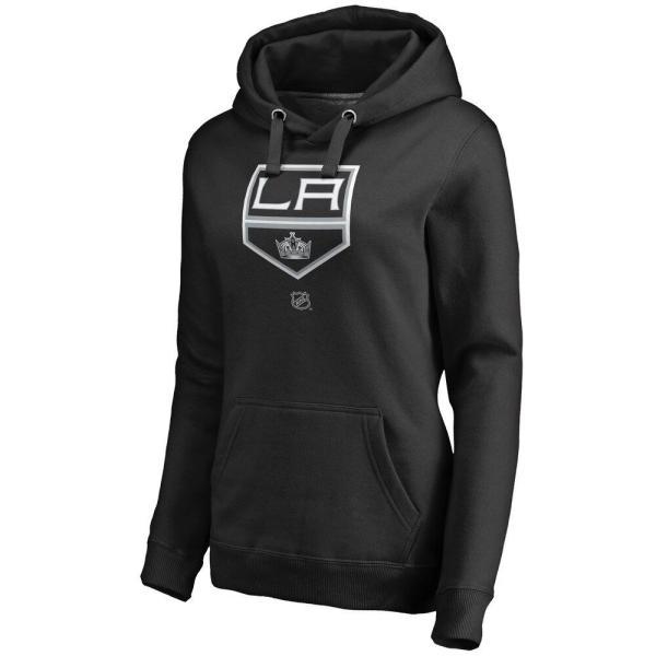 ファナティクス ブランデッド Fanatics Branded レディース パーカー トップス Los Angeles Kings Personalized Team Authentic Pullover Hoodie - Black