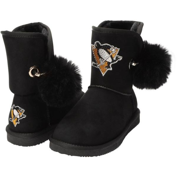 Cuce レディース ブーツ シューズ・靴 Pittsburgh Penguins The Fumble Faux Fur Boots - Black