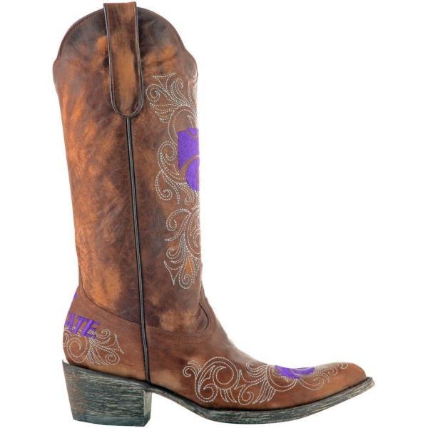 ゲームデイ ブーツ Game Day Boots レディース ブーツ シューズ・靴 Kansas State Wildcats 13' Embroidered Boots - Tan